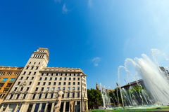 Placa de Catalunya - Barcelona Spain Royalty Free Stock Photos
