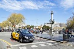 Placa DE Catalunya Catalonië Vierkant. Barcelona Stock Foto