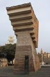 Placa de Catalunya/Catalonia fyrkant Arkivfoton
