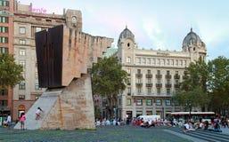 Placa de Catalunya with Francesc Macia monument, Barcelona Royalty Free Stock Images