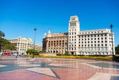 Placa de Catalynia. Square of Catalonia, Barcelona. Main view. Stock Photo