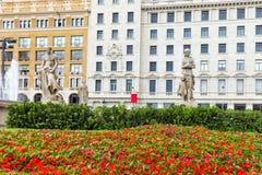 Placa de Catalynia (Square of Catalunia). Placa de Catalynia (Square of Catalunia), Barcelona. Spain royalty free stock photo