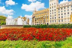 Placa de Catalynia (Square of Catalunia). Placa de Catalynia (Square of Catalunia), Barcelona. Spain royalty free stock images