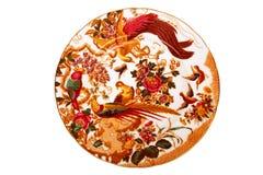 Placa de cena antigua Imagenes de archivo