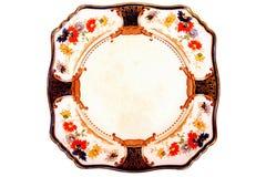 Placa de cena antigua Foto de archivo libre de regalías