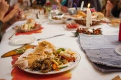 Placa de cena de la acción de gracias fotografía de archivo