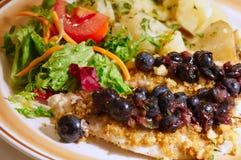 Placa de cena de la Tilapia Imagen de archivo libre de regalías