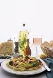 Placa de cena de las pastas Fotos de archivo