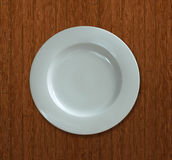 Placa de cena vacía blanca Fotografía de archivo