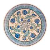 Placa de cerámica hecha a mano Imagenes de archivo