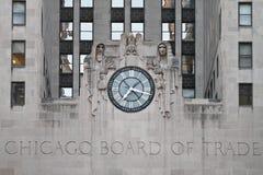 Placa de Chicago do edifício do comércio imagens de stock royalty free