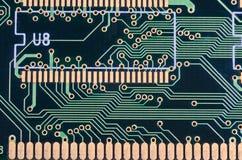 A placa de circuito é a memória do ` s do computador fotos de stock royalty free
