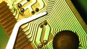 Placa de circuito almacen de metraje de vídeo