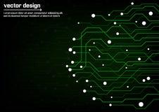 Placa de circuito abstrata da tecnologia Fotos de Stock