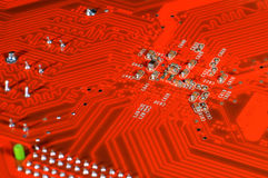 Placa de circuito alaranjada Fotografia de Stock