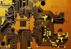 Placa de circuito alaranjada Fotografia de Stock Royalty Free