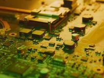Placa de circuito de alta tecnología del ordenador Fotos de archivo