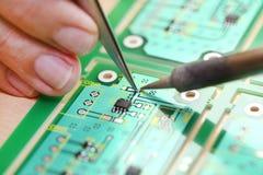 Placa de circuito alta tecnologia Fotos de Stock