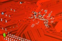Placa de circuito anaranjada Fotografía de archivo