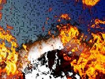Placa de circuito ardente ilustração royalty free