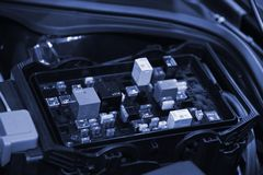 Placa de circuito automotivo imagem de stock