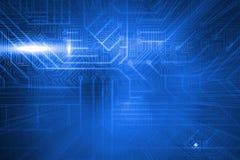 Placa de circuito azul futurista