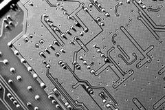 Placa de circuito - B & W imagens de stock