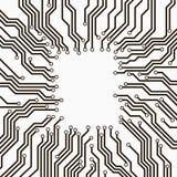 Placa de circuito blanco y negro Foto de archivo