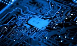 Placa de circuito, cartão-matriz, computadores, tecnologia Imagens de Stock Royalty Free