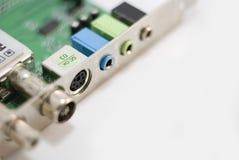 Placa de circuito com conectores Foto de Stock