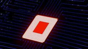 Placa de circuito com elétrons moventes vídeos de arquivo