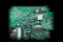 Placa de circuito com microplaqueta da segurança Imagens de Stock Royalty Free