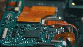 Placa de circuito con los componentes de radio almacen de video