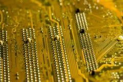 Placa de circuito de oro Foto de archivo