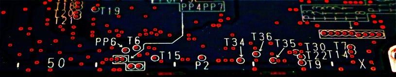 Placa de circuito del alto contraste Foto de archivo