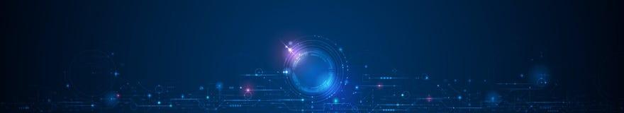 Placa de circuito del diseño del vector Digitales de alta tecnología conectan, comunicación, concepto de alta tecnología foto de archivo