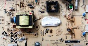 placa de circuito del monitor de computadora Imagenes de archivo