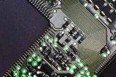 Placa de circuito del ordenador Foto de archivo libre de regalías