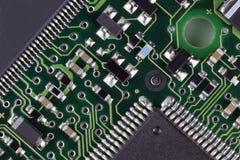 Placa de circuito del ordenador Fotos de archivo libres de regalías