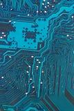 Placa de circuito del ordenador, primer Fotografía de archivo libre de regalías