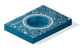 Placa de circuito do computador ilustração do vetor