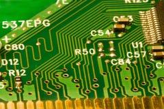 A placa de circuito do computador detalha o fundo Fotografia de Stock Royalty Free