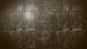 Placa de circuito 5 do Grunge ilustração do vetor