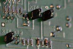Placa de circuito dos componentes eletrônicos foto de stock royalty free