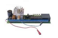Placa de circuito electrónica aislada fotos de archivo