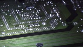 Placa de circuito electrónica del extracto del tablero almacen de video
