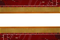 Placa de circuito electrónica en el fondo blanco Fotos de archivo libres de regalías
