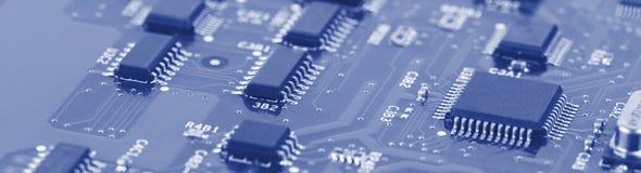 Placa de circuito eletrônico com processador Fotos de Stock Royalty Free