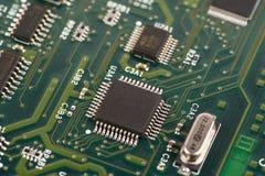 Placa de circuito eletrônico com processador Fotografia de Stock