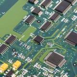 Placa de circuito eletrônico com processador Fotografia de Stock Royalty Free